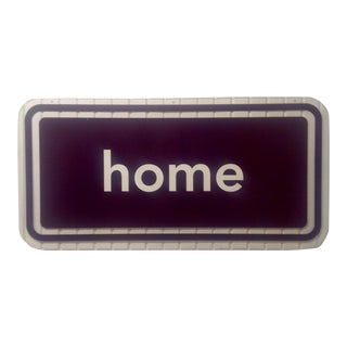 Acrylic or Lucite Double Sided Home Sign Clear & Burnt Umber