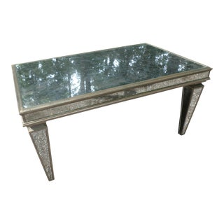 Hollywood Regency Mirrored Coffee Table