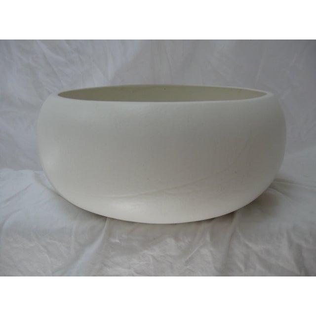 White Mid-Century Planter Bowl - Image 4 of 7