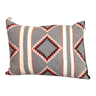 Navajo Indian Two Grey Hills Hand Woven Geometic Pillow