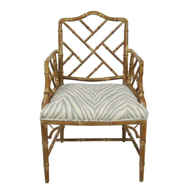 Faux-Bamboo Dining Chairs - Set of 6 - Image 2 of 7