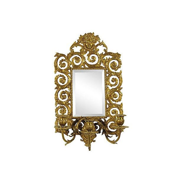 Baroque-Style Girandole Mirrors - A Pair - Image 2 of 4