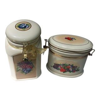 Knotts Berry Farms Canisters - A Pair