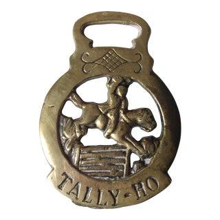 Antique 'Tally Ho' Brass Bottle Opener