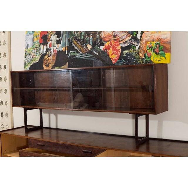 Image of Danish Mid Century Long Cabinet W/ Raised Hutch