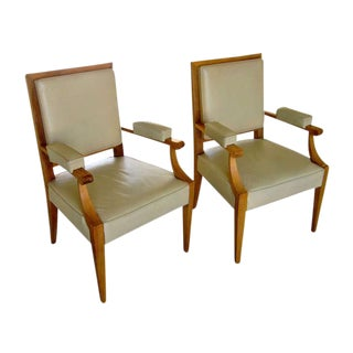 Andre Arbus-Style French Armchairs - A Pair