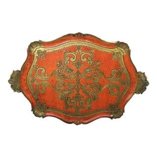 Vintage Italian Florentine Serving Tray