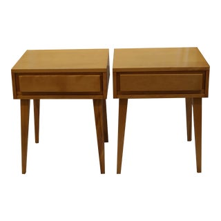 1950s Vintage Mid-century Modern Russel Wright for Conant Ball Nightstands - a Pair