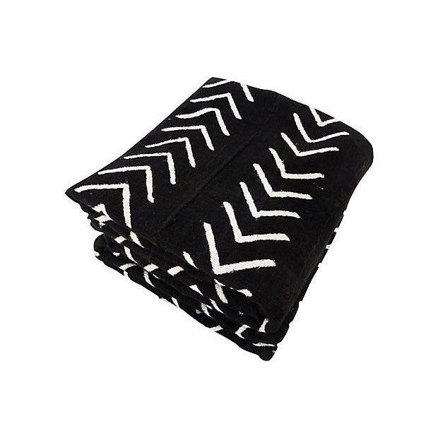 Malian Black & White Mud Cloth Textiles - A Pair - Image 2 of 9