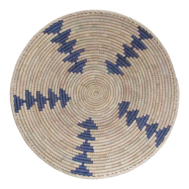 Image of Native American Style Blue Arrow Basket