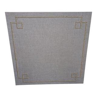 Gray Reverse Greek Key Nail Head & Cork Board Wall Piece