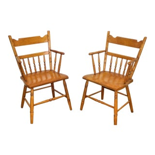 Vintage Conant Ball Natural Maple Chairs - A Pair