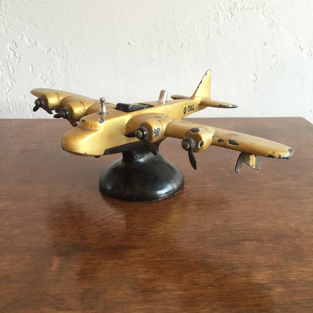 Art Deco Cast Iron Airplane Lighter - Image 3 of 7