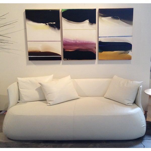 B&B Italia White Leather 'Fat' Sofa - Image 2 of 4