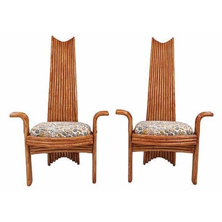 Arthur Edwards Bamboo Style Chairs - A Pair
