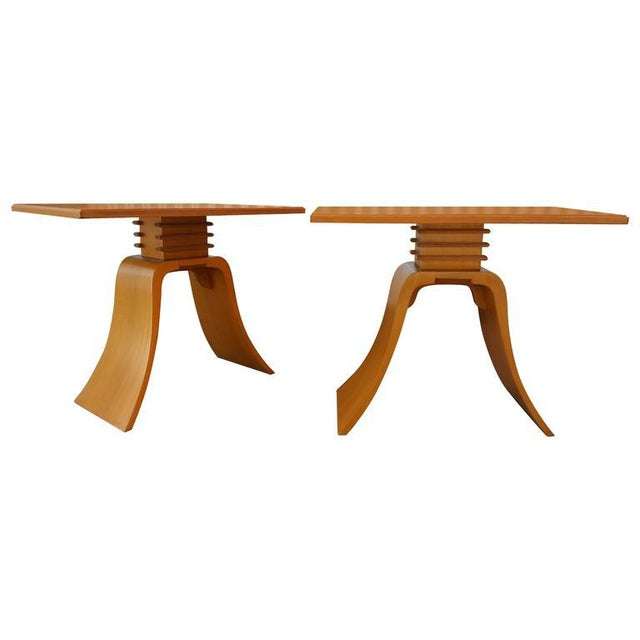 """Paul Frankl """"Bell"""" End Tables - Image 8 of 8"""