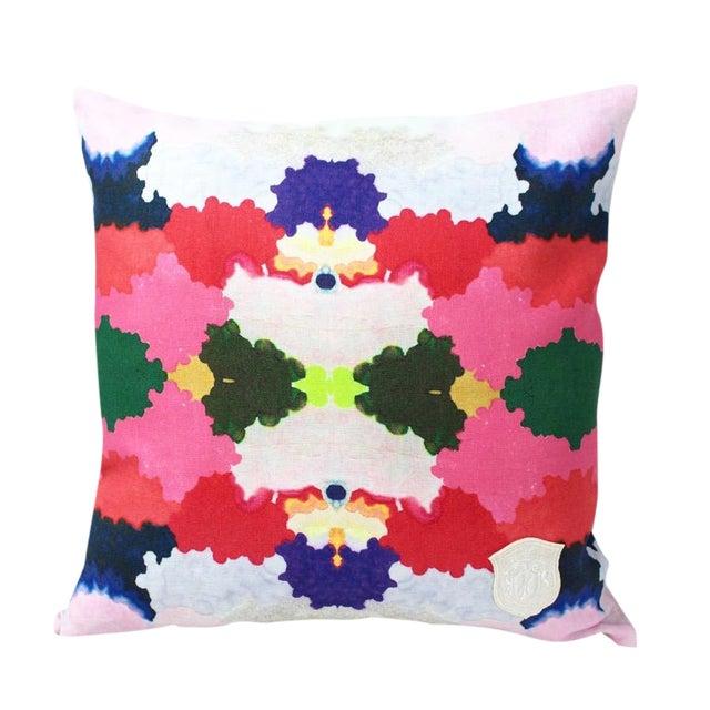 Kristi Kohut Colorful World Pillow - Image 1 of 3