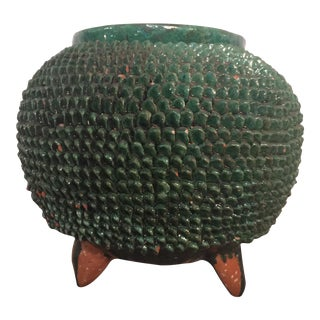 Mexican Green Glazed Planter