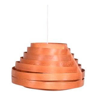 Scandinavian Hanging Lamp Teak and Pine Mid-Century Modern
