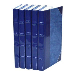Patent Leather Cobalt Books - Set of 6