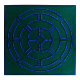 """Blue Radiance"" Mandala Neon Sculpture by Christopher Sproat"