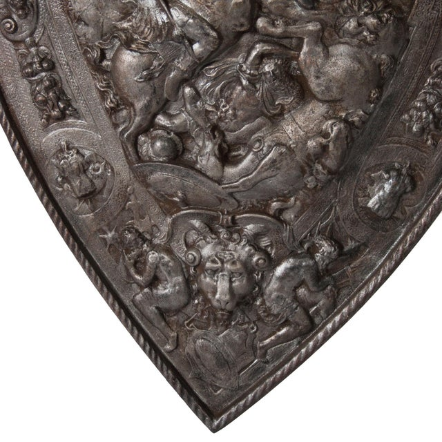 Antique Iron Decorative Shield - Image 4 of 5
