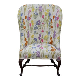 Vintage Mid Century Floral Wingback Chair