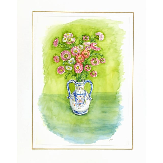 Floral Still Life Watercolor Painting - Image 4 of 4