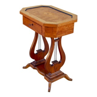 Swedish Art Deco Biedermeier Revival Lyre Table, circa 1920