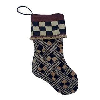 African Kuba Cloth Christmas Stocking