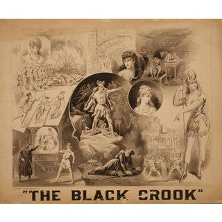 "Reproduction 1800s ""The Black Crook"" Musical Production Print"