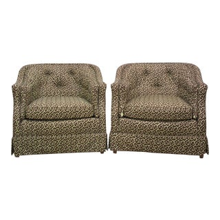 Henredon Geometric Club Chairs - A Pair