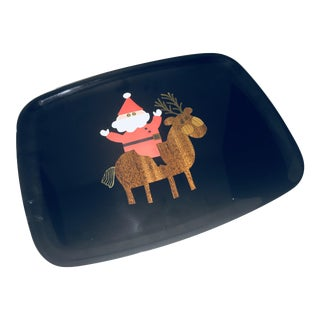 Couroc of Monterey Santa Holiday Tray