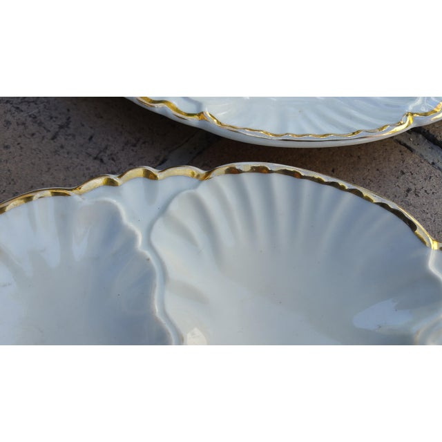 Antique French Oyster Plates - Set of 4 - Image 4 of 5