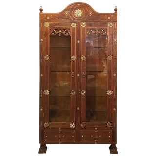Antique Syrian Cabinet with Mother of Pearl