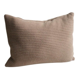 """Cashmere Cocoa Brown Patchwork Throw Pillow - 16"""" X 12"""""""