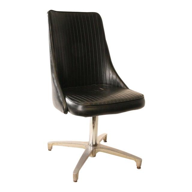 Chromcraft Mid-Century Black Swivel Dining Chair - Image 1 of 11