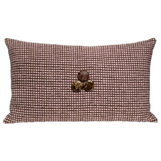Hand-Woven Pillow, Funky Times
