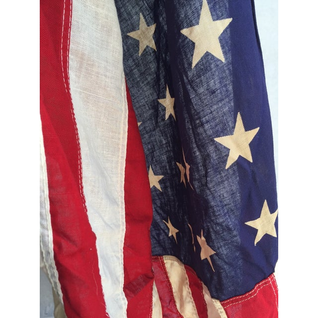 Image of Vintage Worn 48 Star American Flag