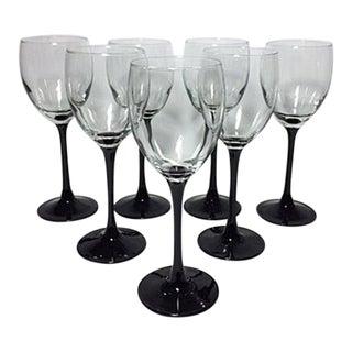 Vintage Luminarc France Wine Glasses - Set of 7