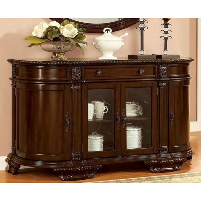 Bellagio Brown Cherry Finish Server Buffet Cabinet - Image 10 of 11