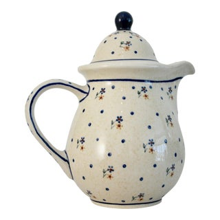 Polish Boleslawiec Pitcher With Lid