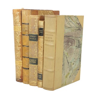 1920s-1930s Leather-Bound Books - Set of 5