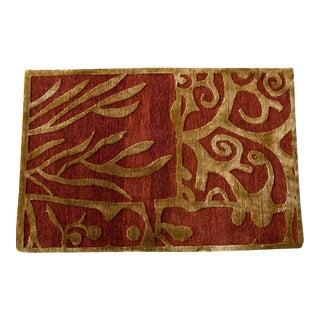 Wool & Silk Handmade Rug - 2 x 3