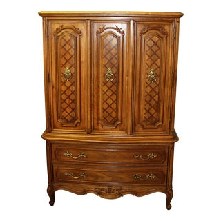 "Vintage Thomasville ""French Court"" Solid Wood Bedroom Dresser / Tall Chest of Drawers"