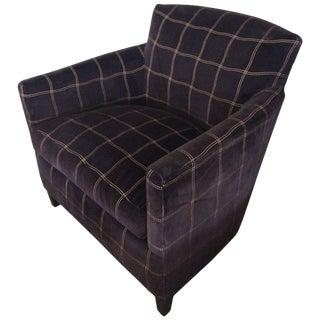 A. Rudin Designs Upholstered Velvet Club Chair