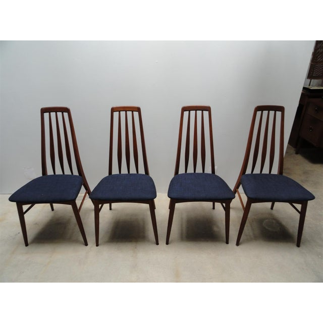 Danish Modern Eva Dining Chairs by Koefoeds Hornslet - Set of 4 - Image 2 of 10