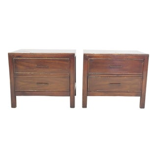 Mid-Century Vintage Bedside Table Chests - Pair