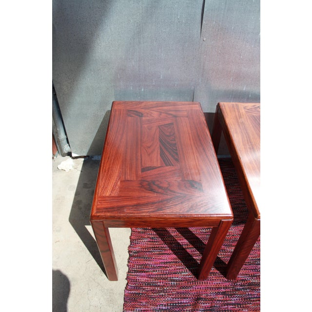 Image of 1960s Danish Rosewood Coffee & End Tables - Set of 3