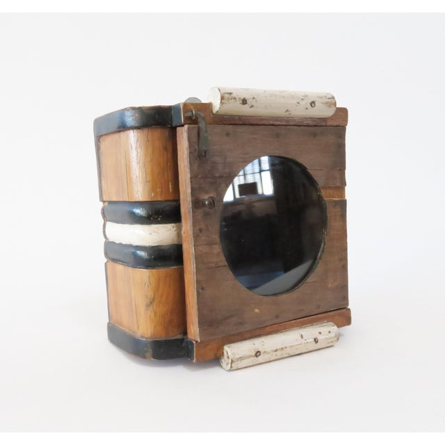 Vintage Wood Wall Mount Hanging Display Case - Image 4 of 7